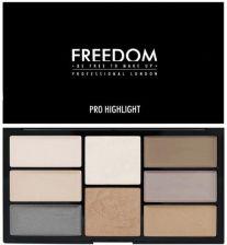 Freedom Pro Highlight Palette Paleta 8 Rozswietlaczy Do Twarzy 15g