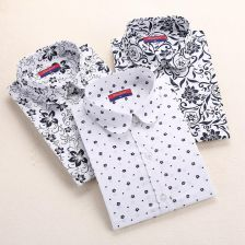 Autumn Floral Women Shirts with Long - Aliexpress
