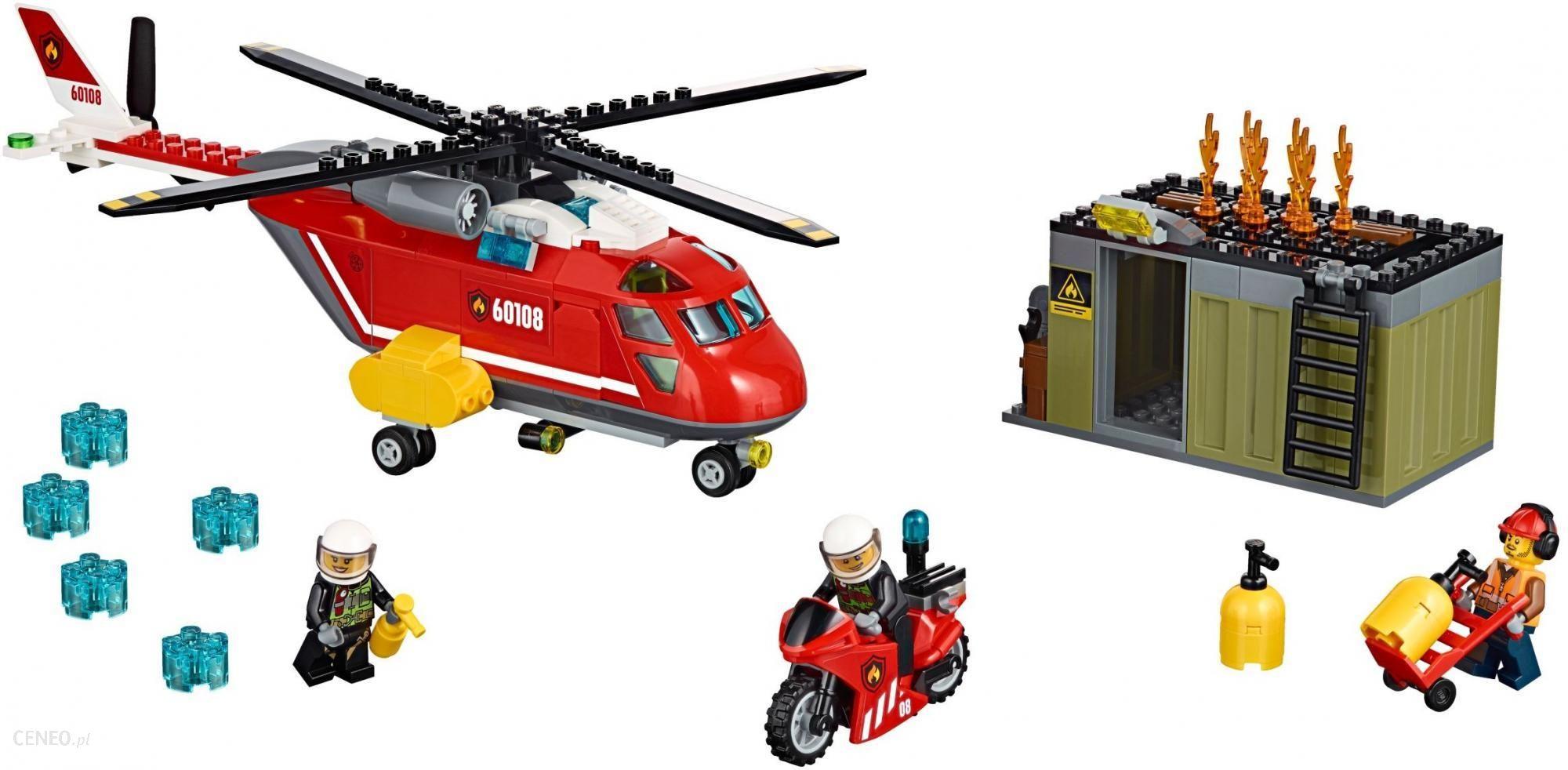 Klocki Lego City Helikopter Strażacki 60108 Ceny I Opinie Ceneopl