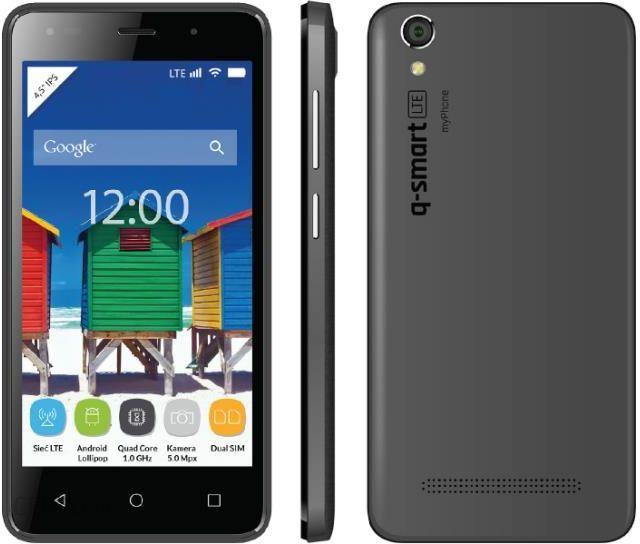 Myphone Q Smart Dual Sim Lte Szary Cena Opinie Na Ceneo Pl