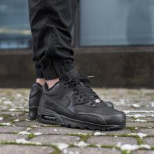 Buty Nike Air Max 90 Leather All Black (302519-001) - Ceny i opinie ... 24e93a0dfccc