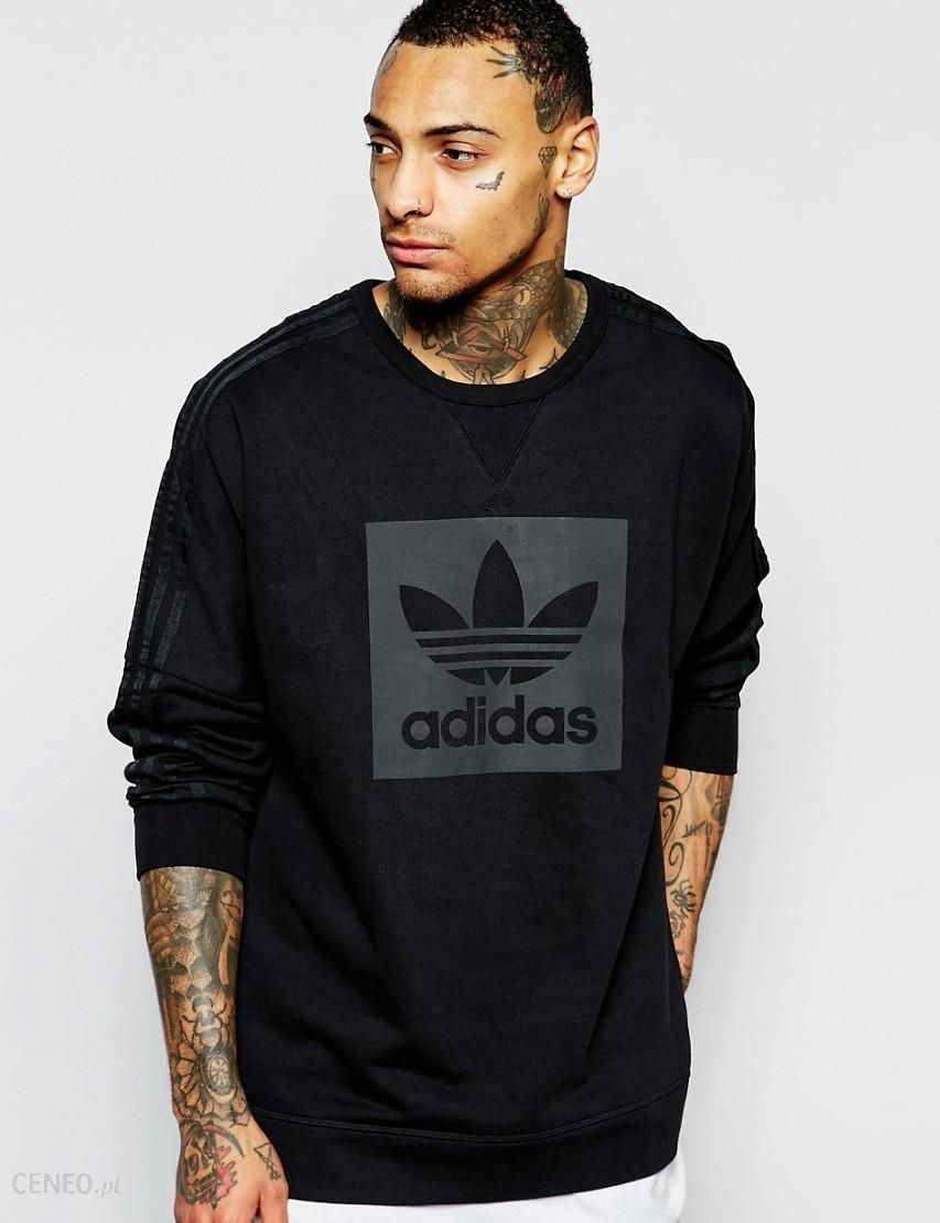 Adidas Originals Sweatshirt With Large Box Logo AJ7878 Black Ceneo.pl