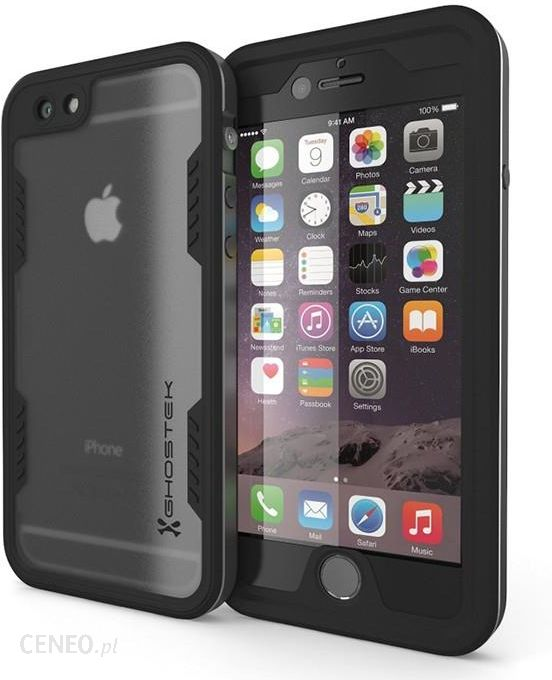 the best attitude cb987 89014 Ghostek Atomic 2.0 Wodoszczelne Na Apple Iphone 6 Plus / 6S Plus Czarny Na  Tył Tworzywo Sztuczne (58158)