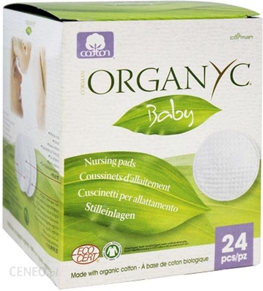 Organyc Baby 24 Szt Nursing Pads Naturalne Wkładki Laktacyjne