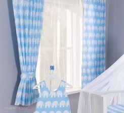 8d8ebdfc5b36 Mamo-Tato Zasłonki Słoń Niebieski