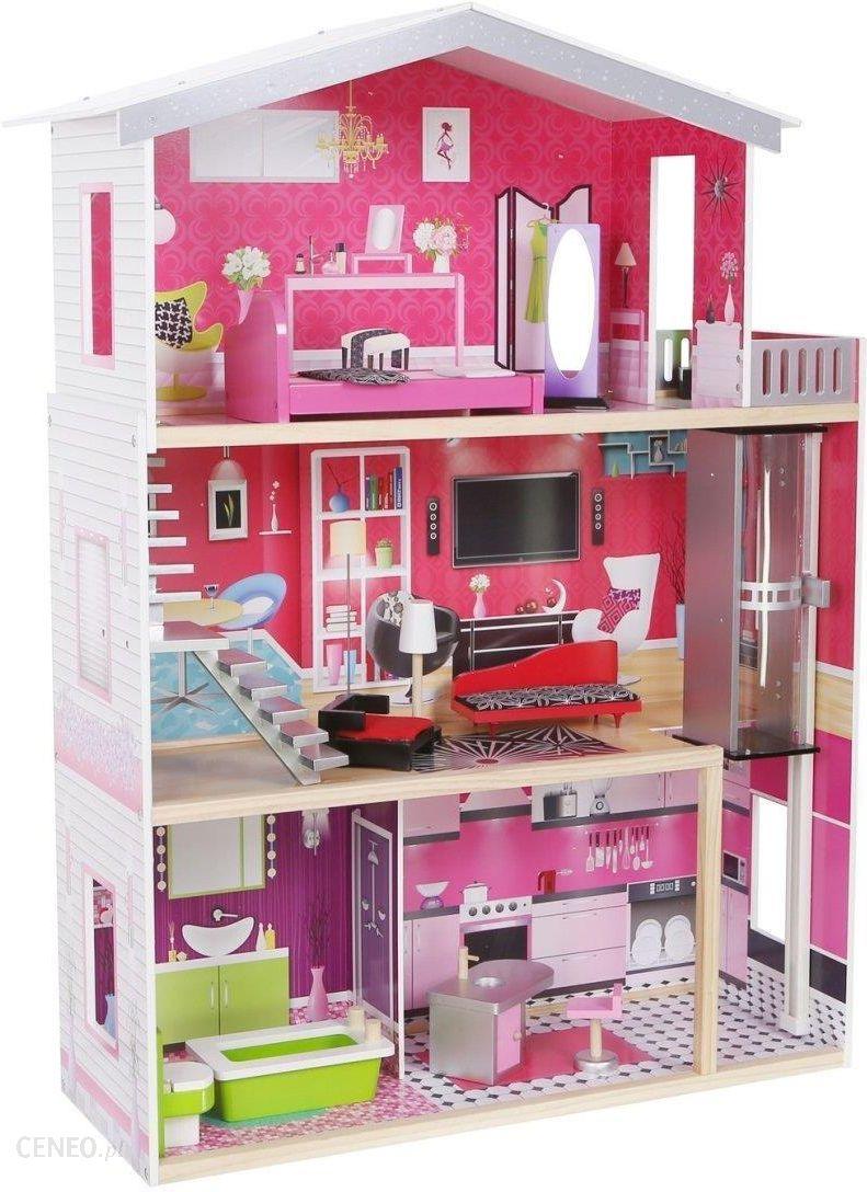 87895858fca9 Ecotoys Drewniany Domek Dla Lalek Barbie Malibu (4118) - zdjęcie 1 ...