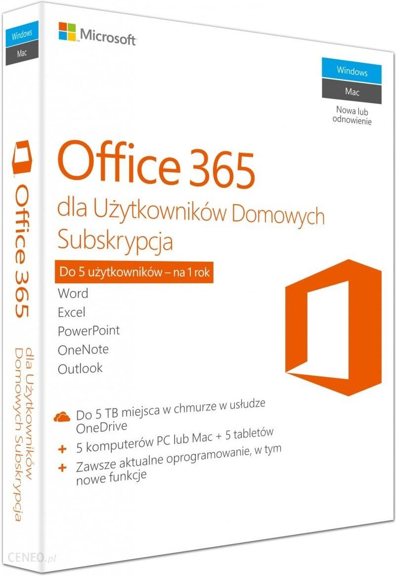 Program Biurowy Microsoft Office 365 Family 6gq0000704 Opinie I Ceny Na Ceneo Pl