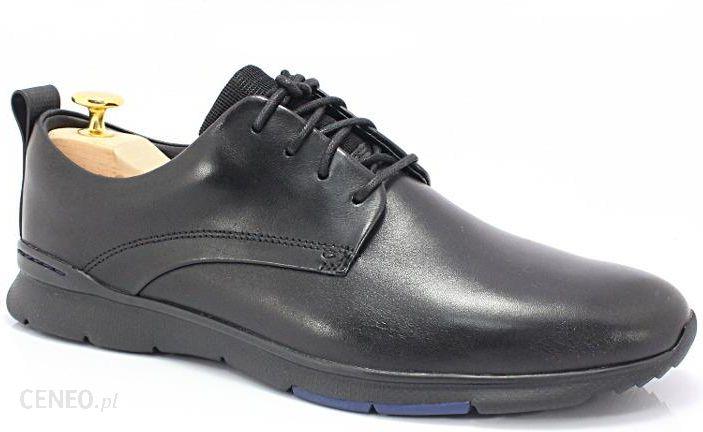 9132b0a1c933a CLARKS 26119905 CZARNE - Markowe, wygodne buty ze skóry, styl CASUAL -  zdjęcie 1