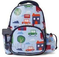 2c2961b55f35c Penny Scallan - Mały plecak z kieszeniami niebieski w autka BPMBIC -  zdjęcie 1