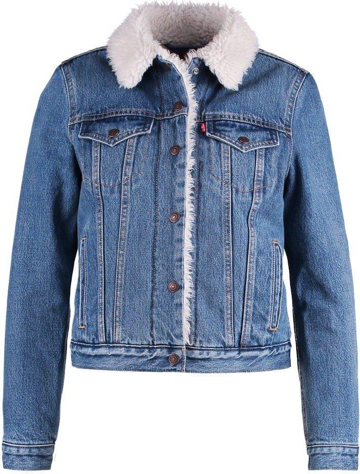 6b99af64e4286 Levis® VINTAGE SHERPA TRUCKER Kurtka jeansowa blue denim - Ceny i ...