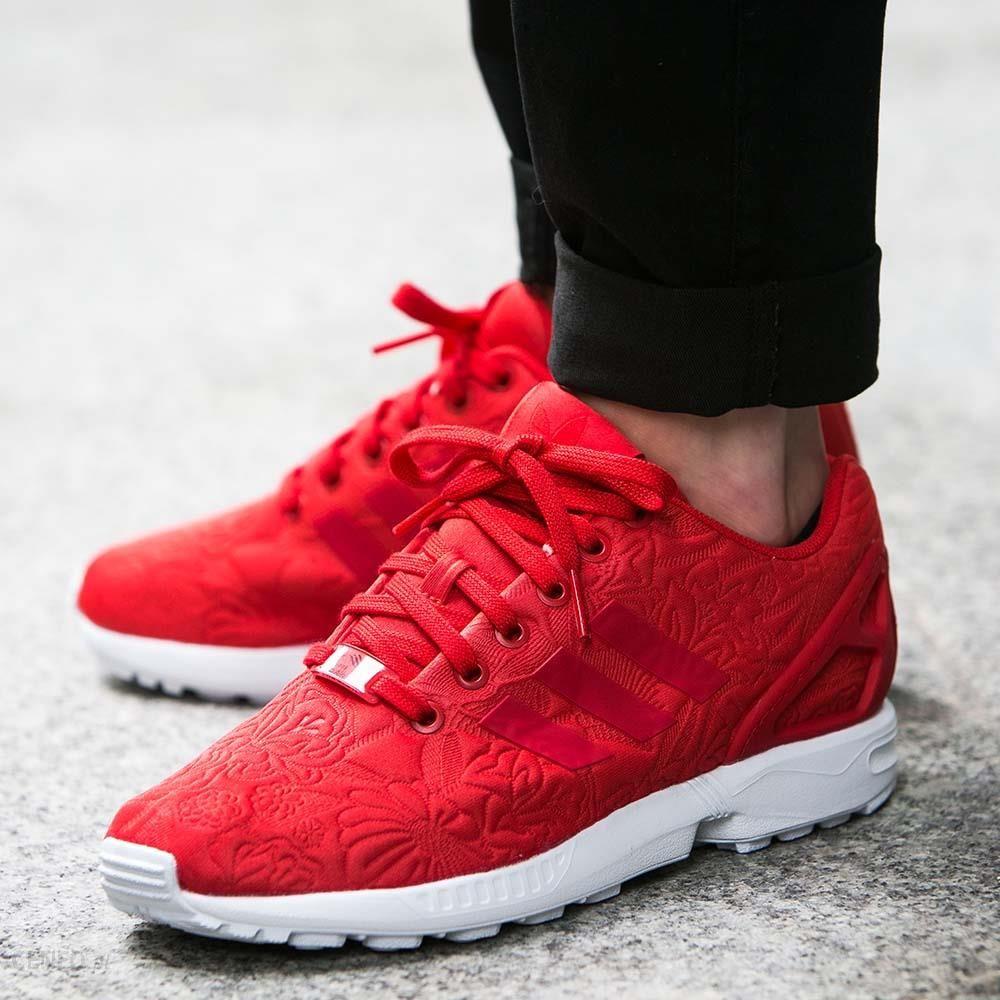 buty adidas zx flux czerwone damskie