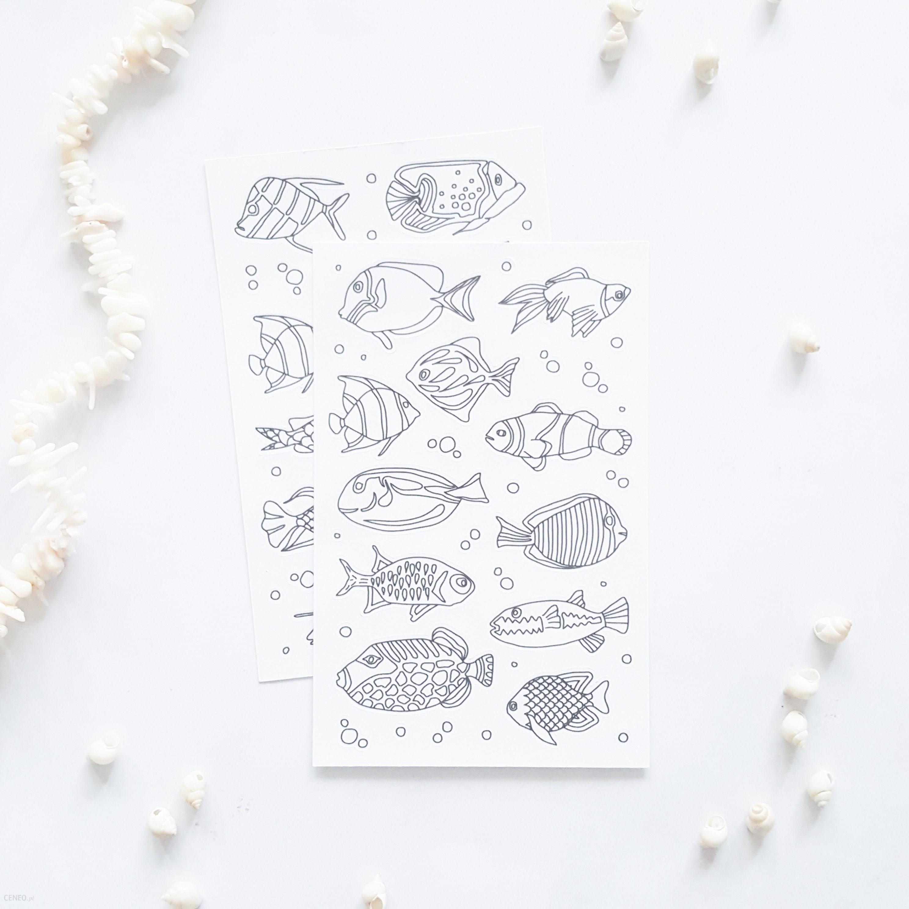 Naklejki Do Kolorowania Ryby 2 Kartki Ceneo Pl