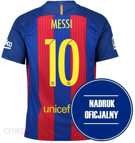 739d90585 Nike Koszulka Dziecięca FC Barcelona Home 16/17 + nadruk MESSI  (777029481+NADRUK