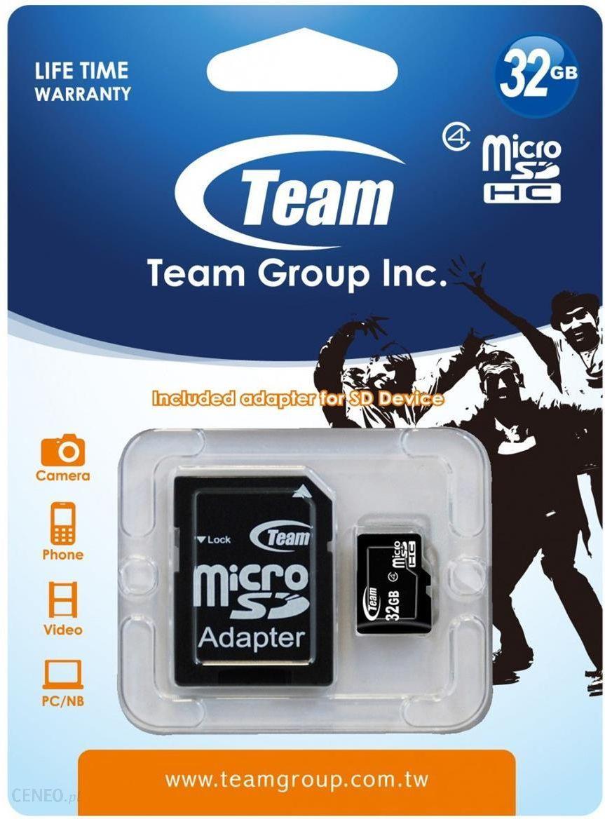 Karta Pamieci Do Aparatu Team Group Microsdhc 32gb Class 4