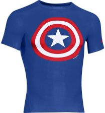 Under Armour Men's Captain America Compression Short Sleeved T-Shirt - Blue/Red/White - L