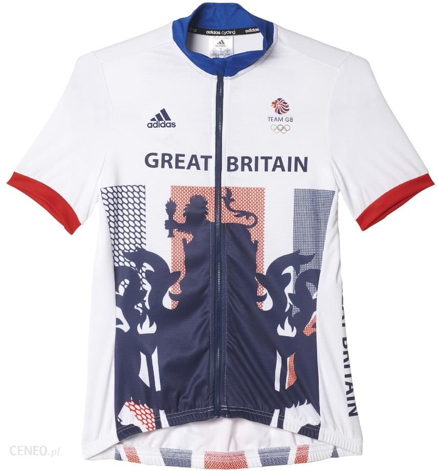 ada4c3dcec4 adidas Women's Team GB Replica Cycling Short Sleeve Jersey - White - M -  zdjęcie 1