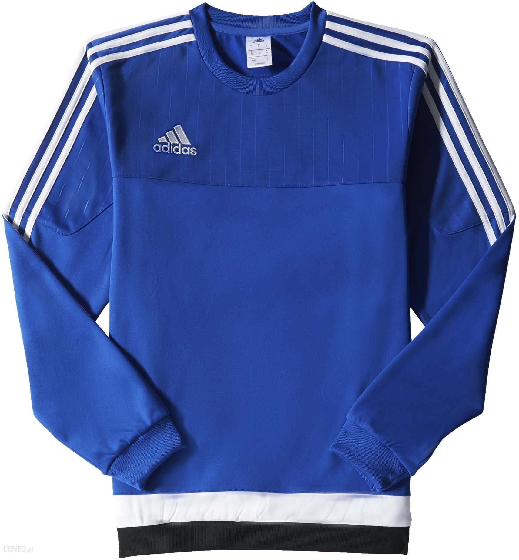 bluza adidas niebieska męska