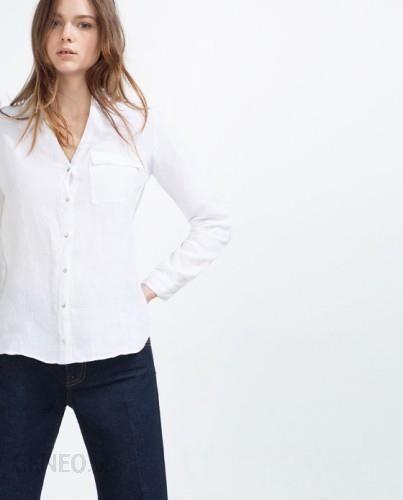 biała lniana męska koszula zara