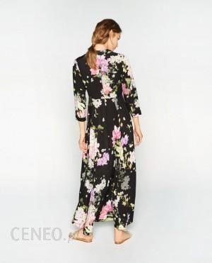 sukienka z nadrukiem w kwiaty zara