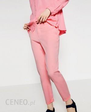 zara pl rozowe spodnie