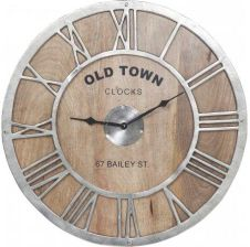 Kare Design Zegar Old Town Wood 38928