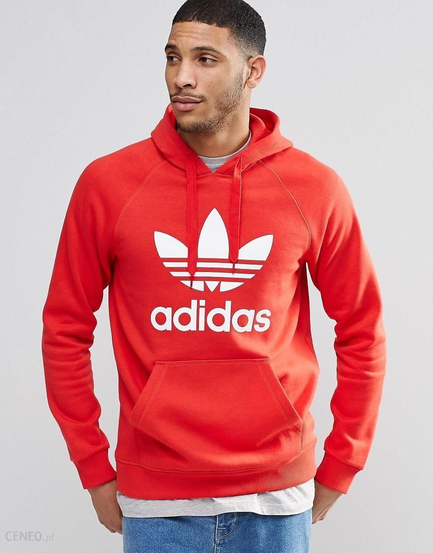 Adidas Originals Trefoil Hoodie AY6473 Red Ceneo.pl