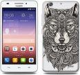 etuo pl Etuo Fantastic Case  Huawei Ascend G620S Aztecki Wilk ETHW142FNTCFC019000