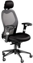 Krzesło biurowe SWANSEA, wysokie oparcie z siatki, czarny