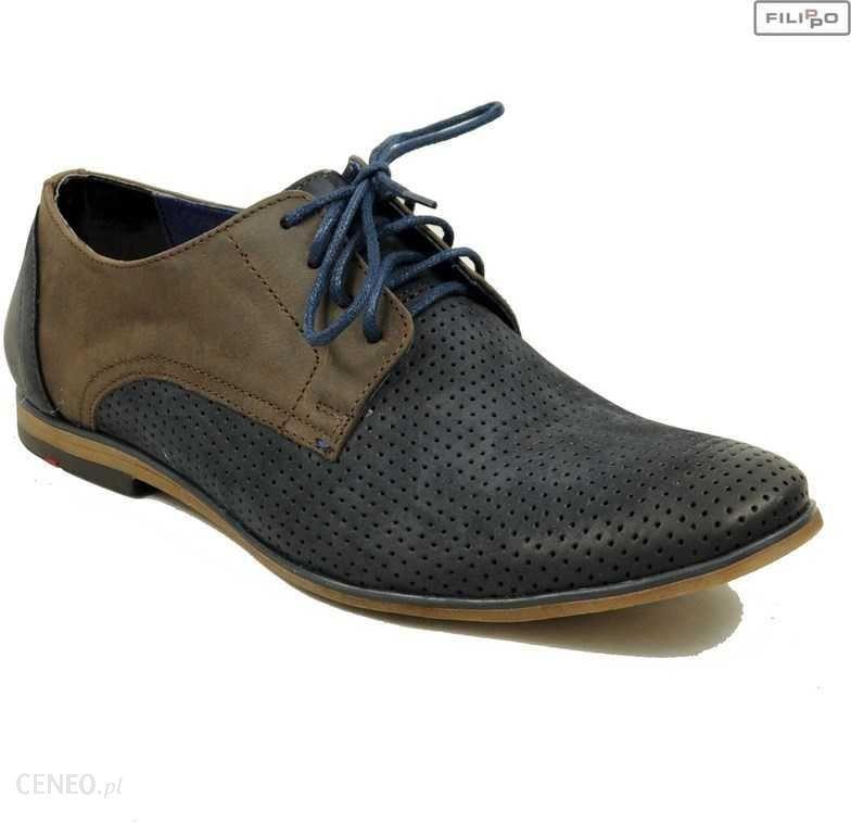 610a36f0222e1 Półbuty FILIPPO 730/P jeans nubuk+brąz 8020953 - Ceny i opinie ...