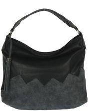320eff0afab60 Miękka czarna torebka worek z zygzakiem - czarny