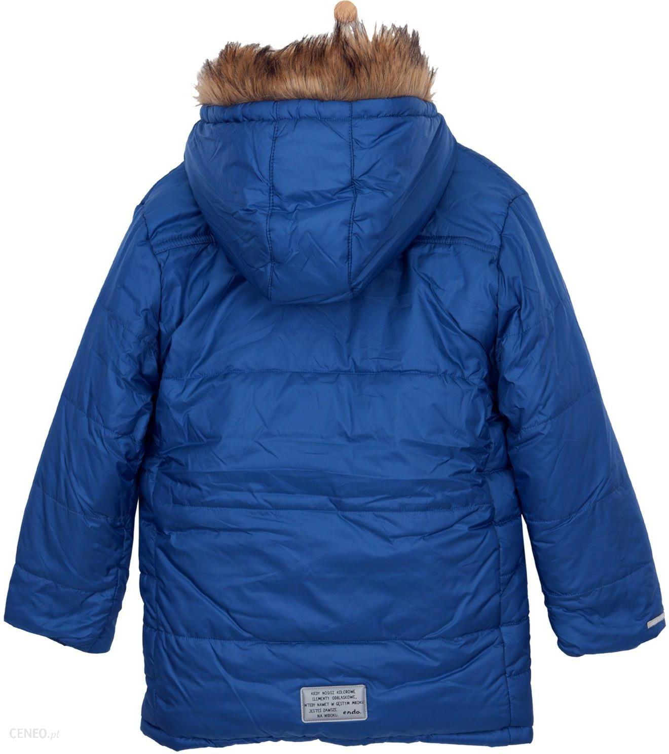 Długa kurtka zimowa dla chłopca 9 12 lat