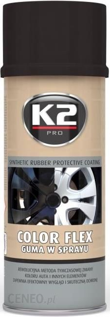 K2 Color Flex Czarny Polysk 400ml Guma W Sprayu Opinie I Ceny Na Ceneo Pl