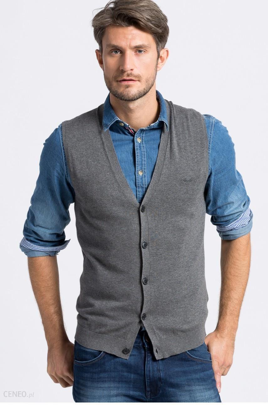 2f592b046540f Sweter męski - Selected - Kamizelka Antonio Banderas Design - Ceny i ...