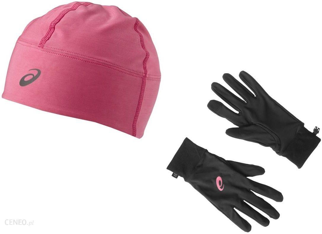 Czapka zimowa i rękawiczki do biegania Running Pack Asics