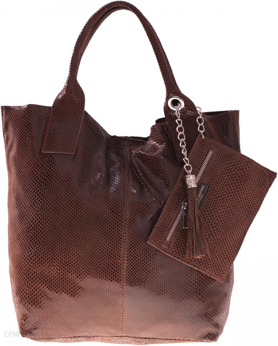 1e597eeb83d52 Shopperbag modna torebka Skórzana Lakier Brązowa (kolory) - Ceny i ...