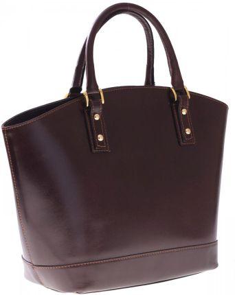 5b419e702c747 Bestseller Torebka skórzana typu Shopperbag Łódka Czekolada ...