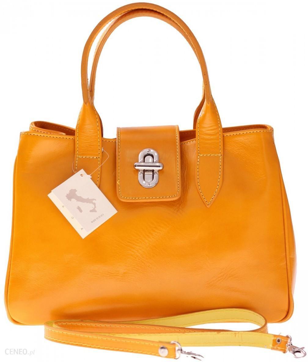 f5ffd1c3f06ef Torebka skórzana kuferek Made in Italy Żółty (kolory) - Ceny i ...