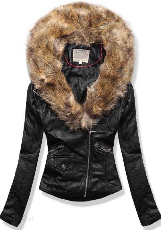 meska kurtka zimowa skórzana z futerkiem