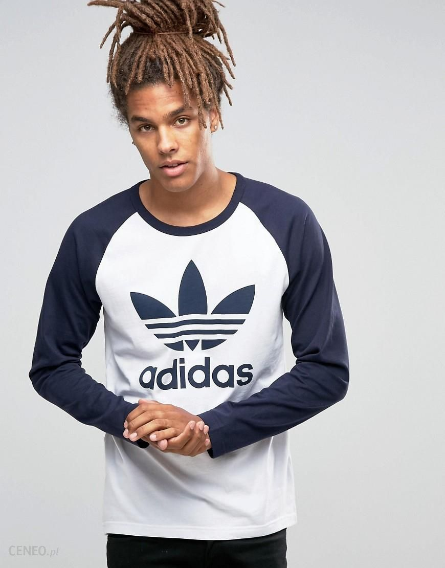 Adidas Originals Trefoil Raglan Long Sleeve T Shirt AY7804 White Ceneo.pl