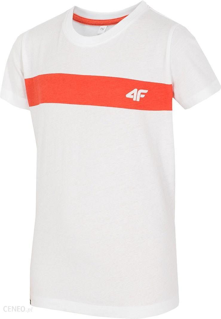 528e1bf57 4F Dziecięcy T-shirt bawełniany White 4F biały 152 - Ceny i opinie ...
