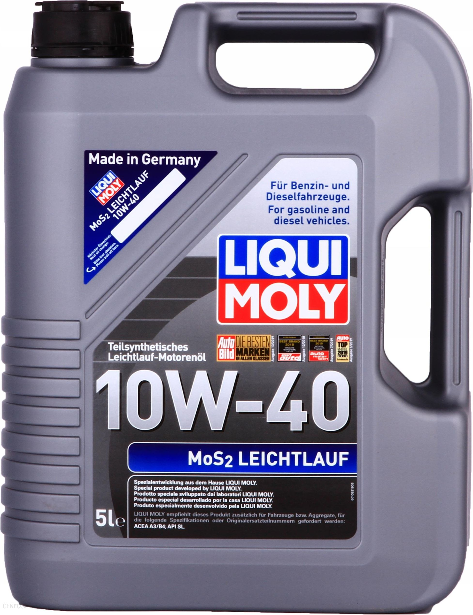 olej silnikowy liqui moly mos2 leichtlauf 10w40 5l. Black Bedroom Furniture Sets. Home Design Ideas