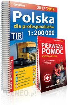 119e91b44f6c6 Polska dla profesjonalistów atlas samochodowy 1:200 000 + Pierwsza pomoc  2017/2018 -