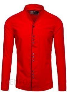 2a20c624eb2505 Czerwona koszula męska z długim rękawem Bolf 5720 - CZERWONY - zdjęcie 1