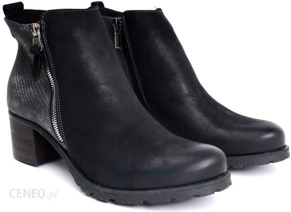 57edbc7c5d84c Czarne botki damskie Lan-Kars C150-1-NUB-L-50 37 czarny - Ceny i ...
