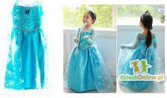 301d0e3f23 kontext Kostium Elsa Kraina Lodu niebieska sukienka 120cm