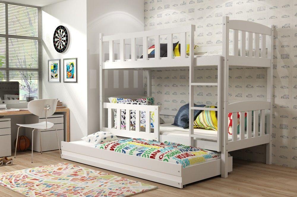 Bms łóżko Piętrowe Kubuś Biały 80190 Cm