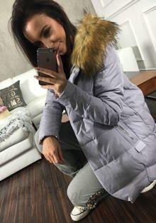 Liliowa kurtka zimowa damska Denley 8071 LILIOWY