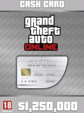 Grand Theft Auto Online: Great White Shark Cash Card - 1,250,000$ - zdjęcie 1