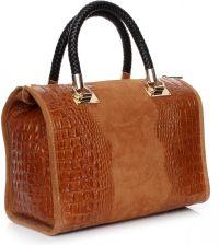 9d0d61a471492 Elegancki kufer skórzany Aligator Rudy (kolory) - Ceny i opinie ...