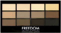 Freedom Makeup Pro Eyeshadow Paleta Cieni Do Powiek Audacious Mattes
